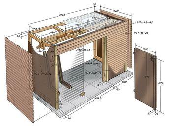 Zeichnung des Schuppens | terassen ideen | Cabane jardin, Rangement ...