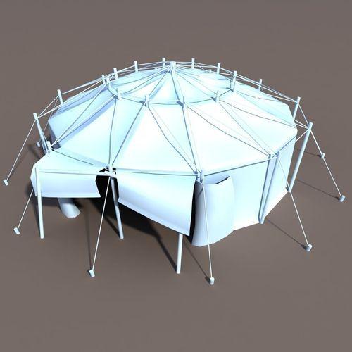 3D model Circus Tent VR / AR / low-poly MAX OBJ 3DS FBX