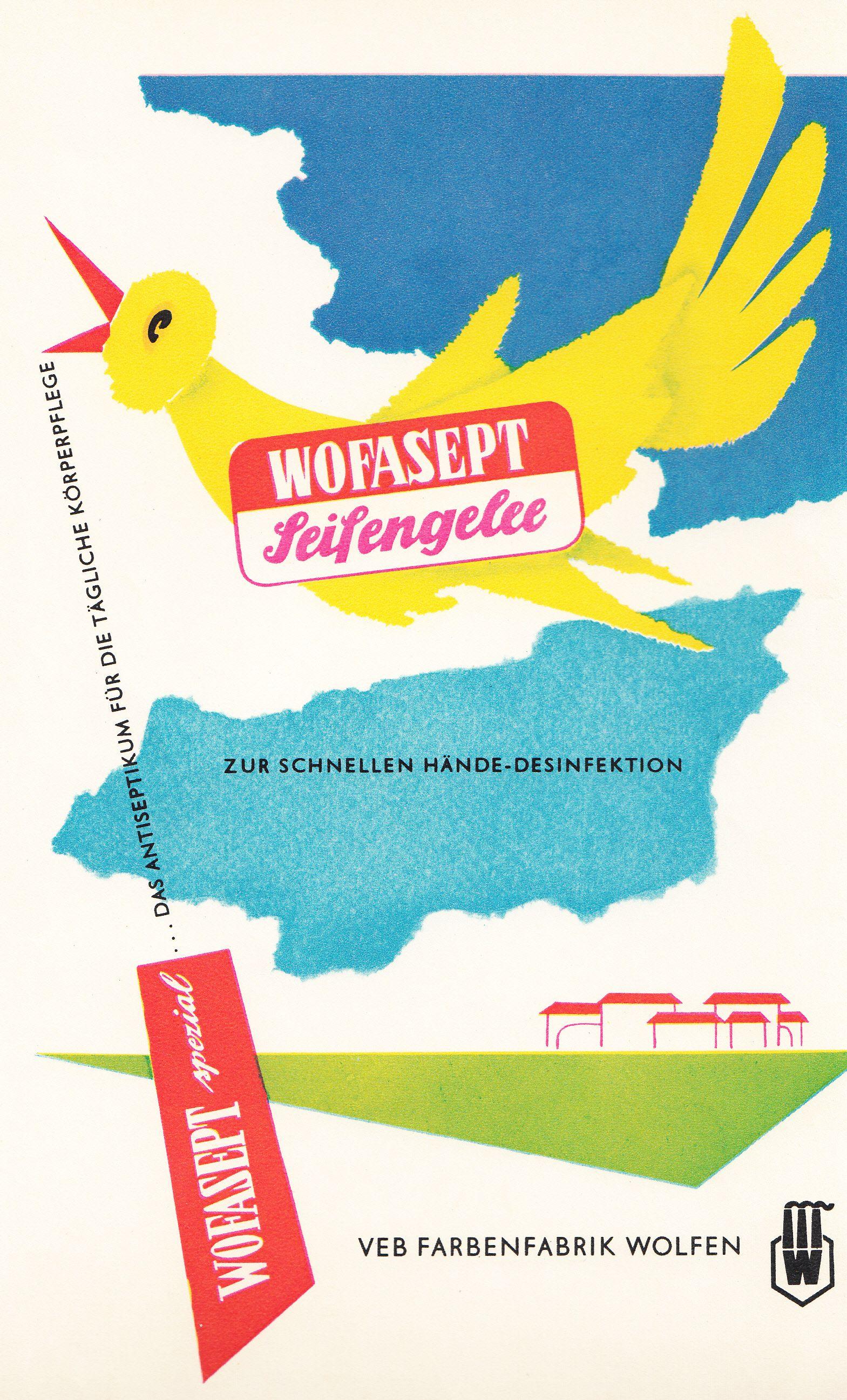 Wofasept Veb Farbenfabrik Wolfen East German Ad Ddr Werbung