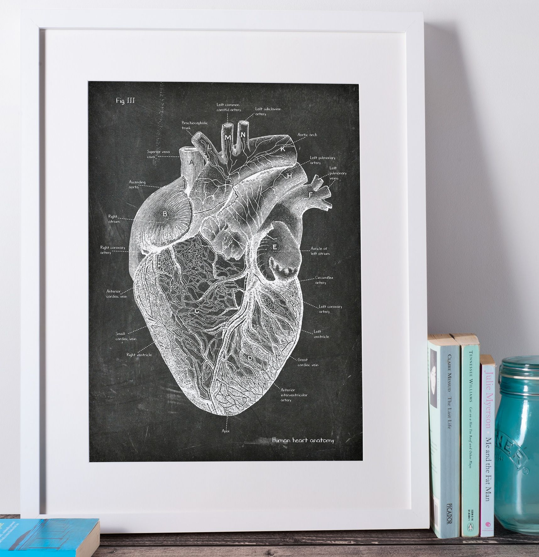 Dorable Heart Anatomy Art Pattern - Physiology Of Human Body Images ...