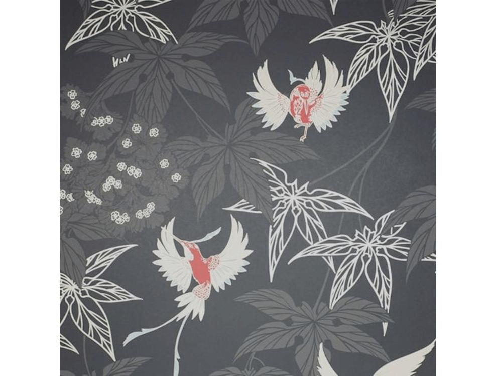 le papier peint grove garden avec son esprit japonais et ses oiseaux de la collection album 5 de. Black Bedroom Furniture Sets. Home Design Ideas