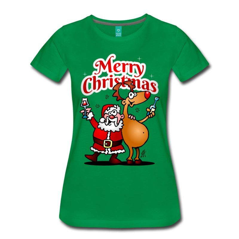#Christmas #Tshirt #Santa #SantaClaus #Reindeer. A verry funny Christmas woman's premium T-shirt. Check it out in the Cardvibes Christmas Sweater, T-shirt & Goodies Shop. #Spreadshirt #Cardvibes #Tekenaartje#Christmas #Tshirt #Santa #SantaClaus #Reindeer. A verry funny Christmas woman's premium T-shirt. Check it out in the Cardvibes Christmas Sweater, T-shirt & Goodies Shop. #Spreadshirt #Cardvibes #Tekenaartje