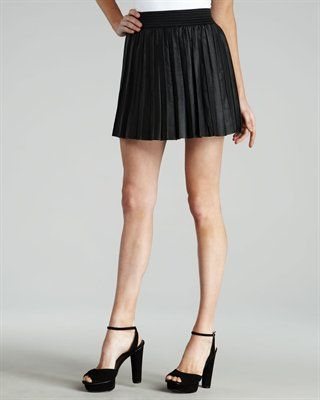 bf748e9c73 Parker Pleated Leather Skirt. Need. and those better be real prada shoes.