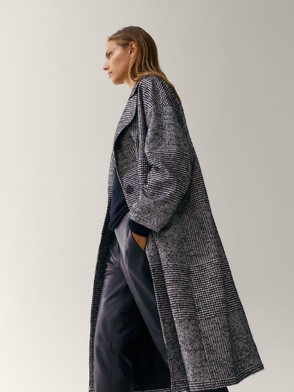 Checked Coat Women Massimo Dutti Check Coat Women Fashion Jackets For Women