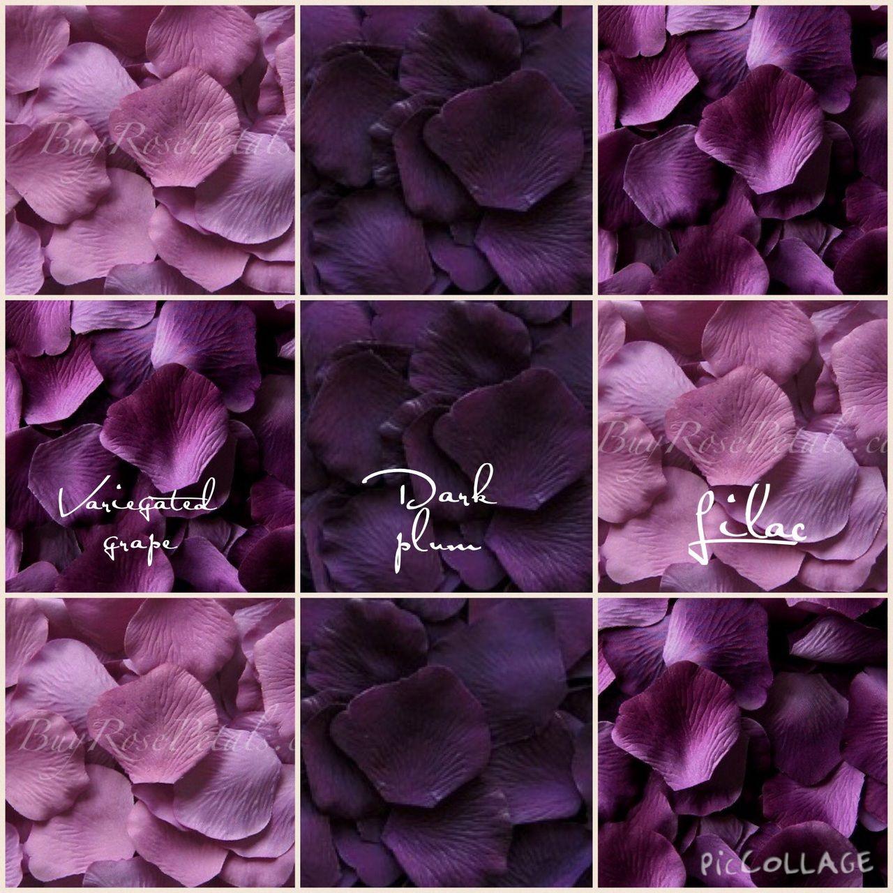 Plum Silk Flower Petals Topsimages