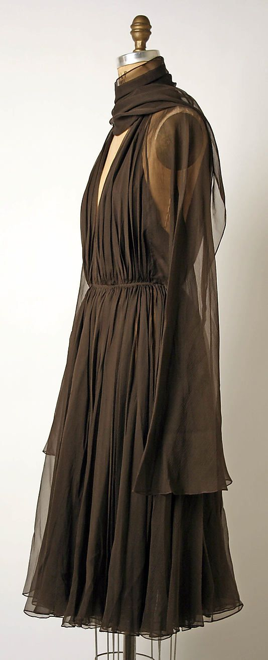 Cocktail dress Madame Grès (Alix Barton)  (French, Paris 1903–1993 Var region)  Date: late 1960s–mid-1980s Culture: French Medium: silk. Sideway