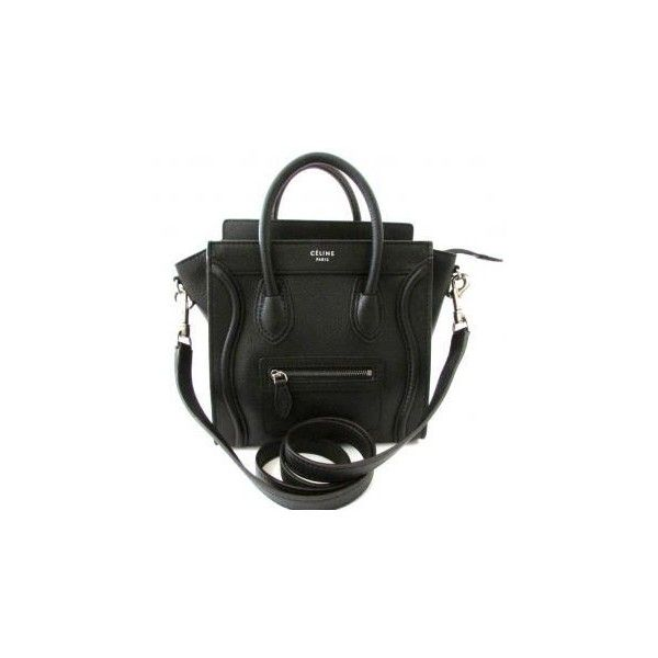 Celine Luggage Nano Tote Crossbody Bag Black New (726.040 HUF) ❤ liked on Polyvore featuring bags, handbags, tote bags, celine, purses, tote purses, tote hand bags, hand bags, purse tote bag and handbag tote