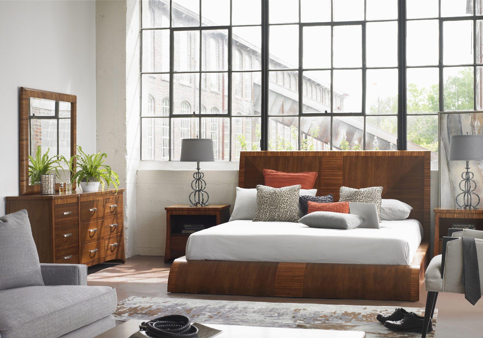 Milan Platform Bedroom Set Somerton Dwelling Furniture