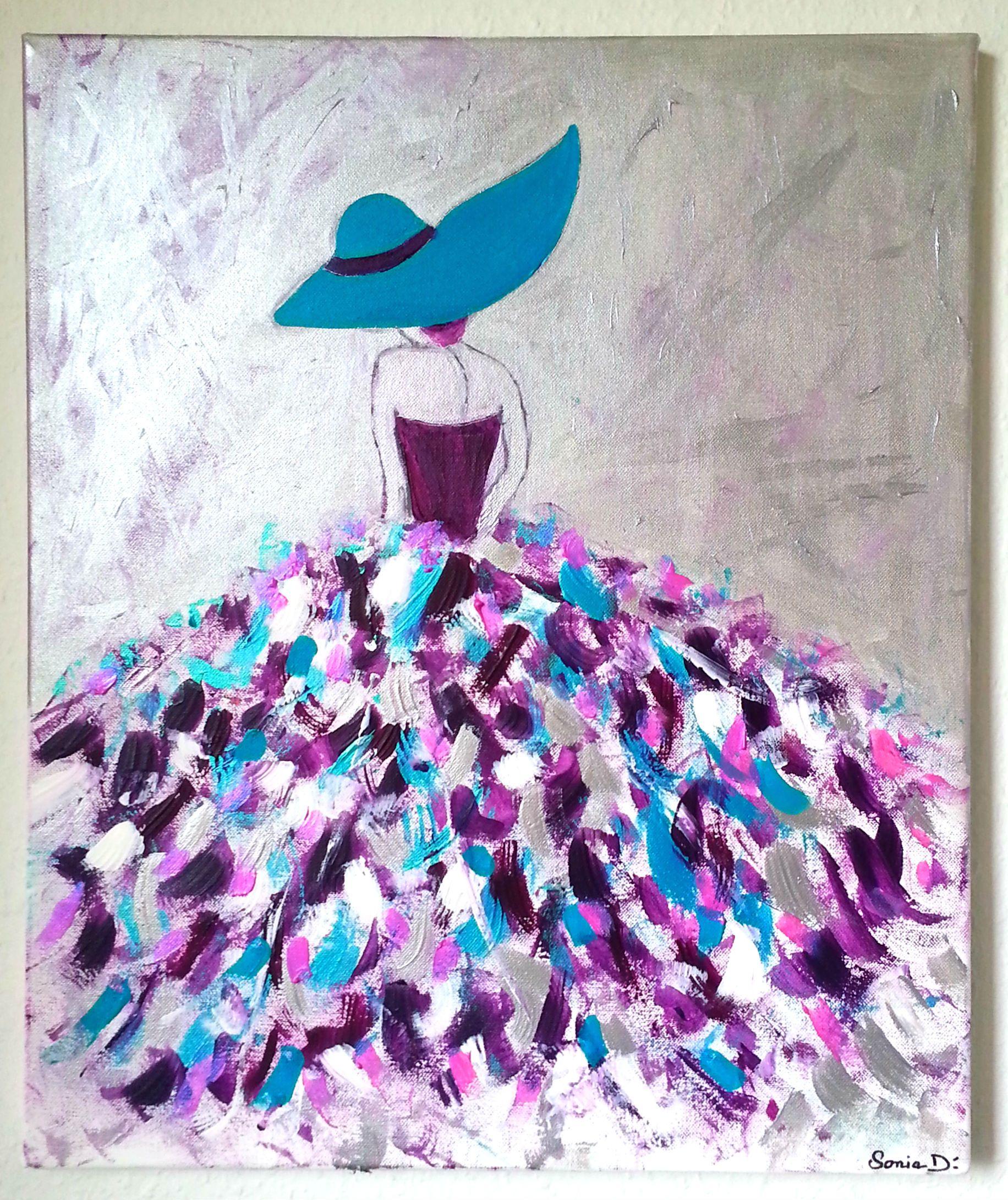 Célèbre C'est un tableau moderne qui représente une femme dans une robe  ZK97