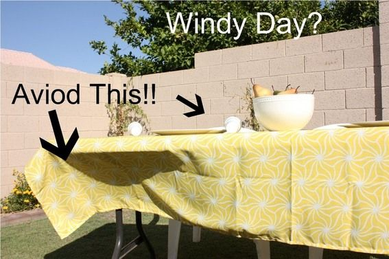 How To Fly Away Tablecloth Solution Curbly Diy Design Community Keywords Diy Outdoor Table Outdoor Tablecloth Table Cloth