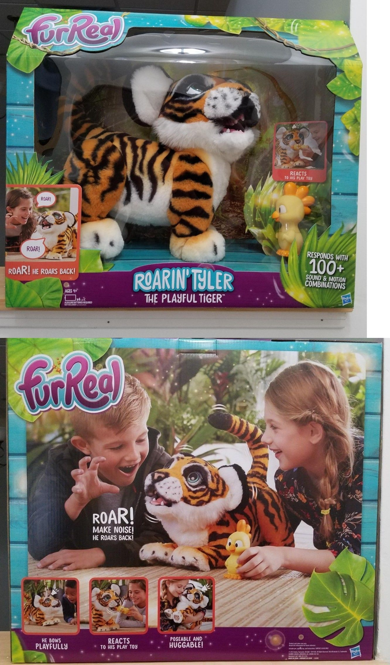 Furreal Roarin Tyler The Playful Tiger New In Sealed Box Fast Free Shipping Fur Real Friends Play Toys Interactive