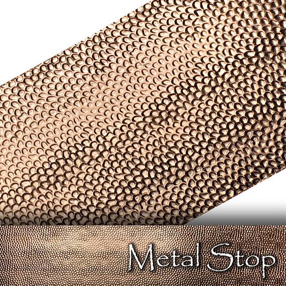 Textured Copper 24 Gauge Sheet Metal 2 5 X 12 Etsy Copper Sheets Sheet Metal Metal Forming