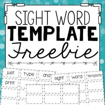 spell words with letters sight word template language arts template 497