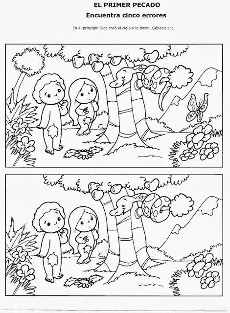 ME ABURRE LA RELIGIÓN: ACTIVIDADES ADÁN Y EVA | Bible craft ...