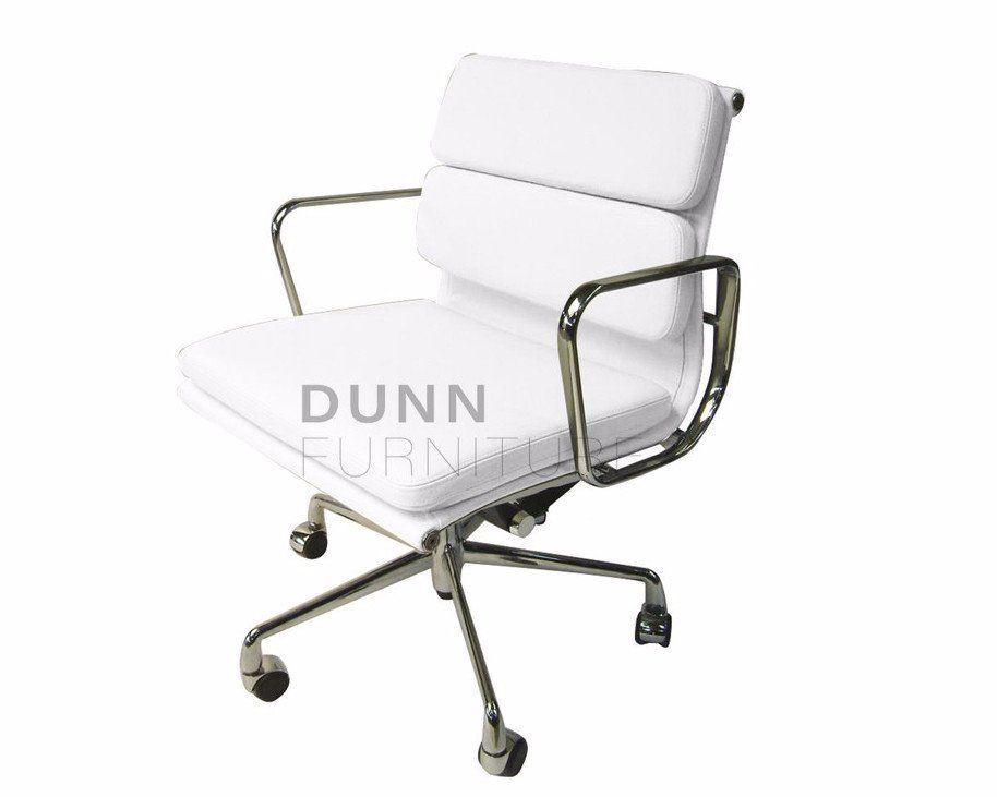 Soft Pad Management Boardroom Chair Eames Replica White U2013 Dunn Furniture