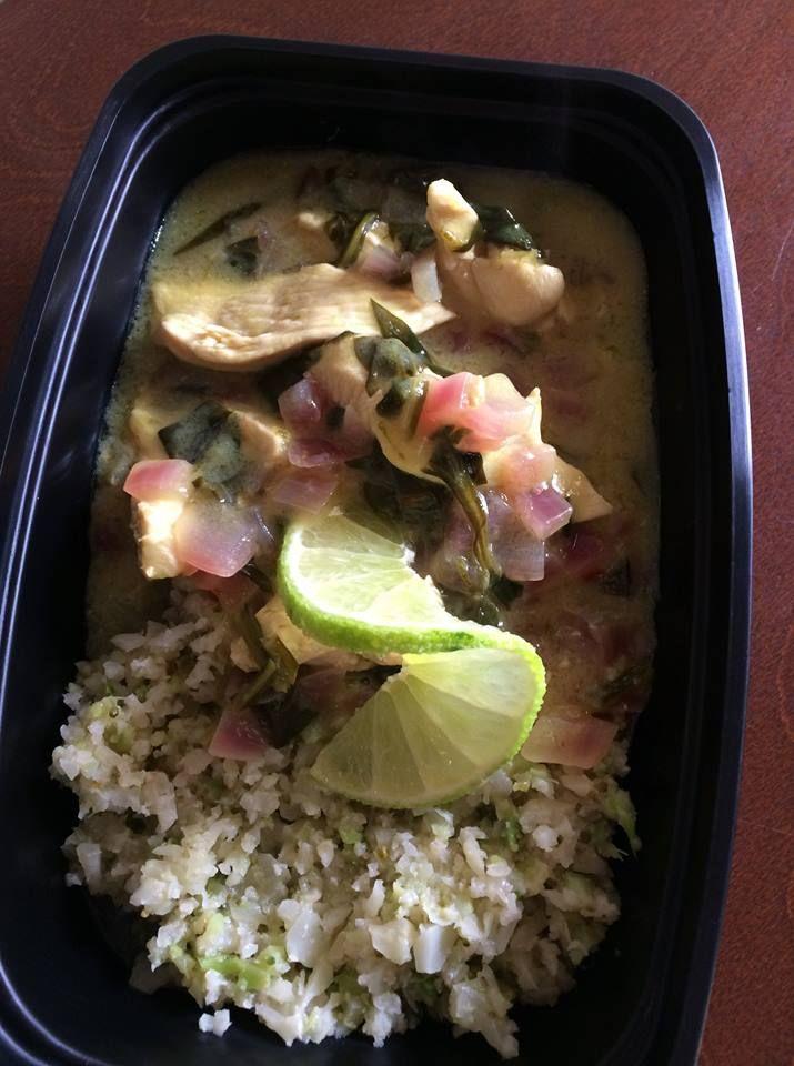 Coconut Lime Skillet Chicken with Cauliflower Rice  -- Evensen Personal Menus