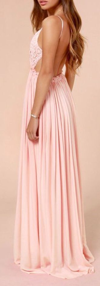 Spring Chic Baby Pink Backless Prom Dress | peinados | Pinterest ...