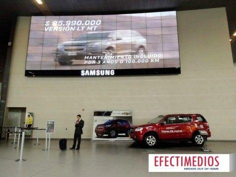 Lanzamiento CHEVROLET TrailBlazer - Aeropuerto Internacional Eldorado T2 Publicidad en Aeropuertos: Video Wall (70 monitores) + Stand Haz clic y echa un vistazo: http://www.efectimedios.com/htm/contenido.php?pid=0&id=6&bid=187