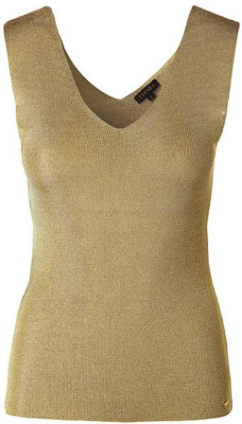 79a0d6ace8821a Escada Tank Top Shada in Gold - Lyst