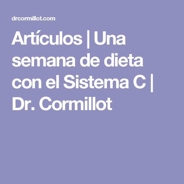 Sistema c para adelgazar cormillot dr