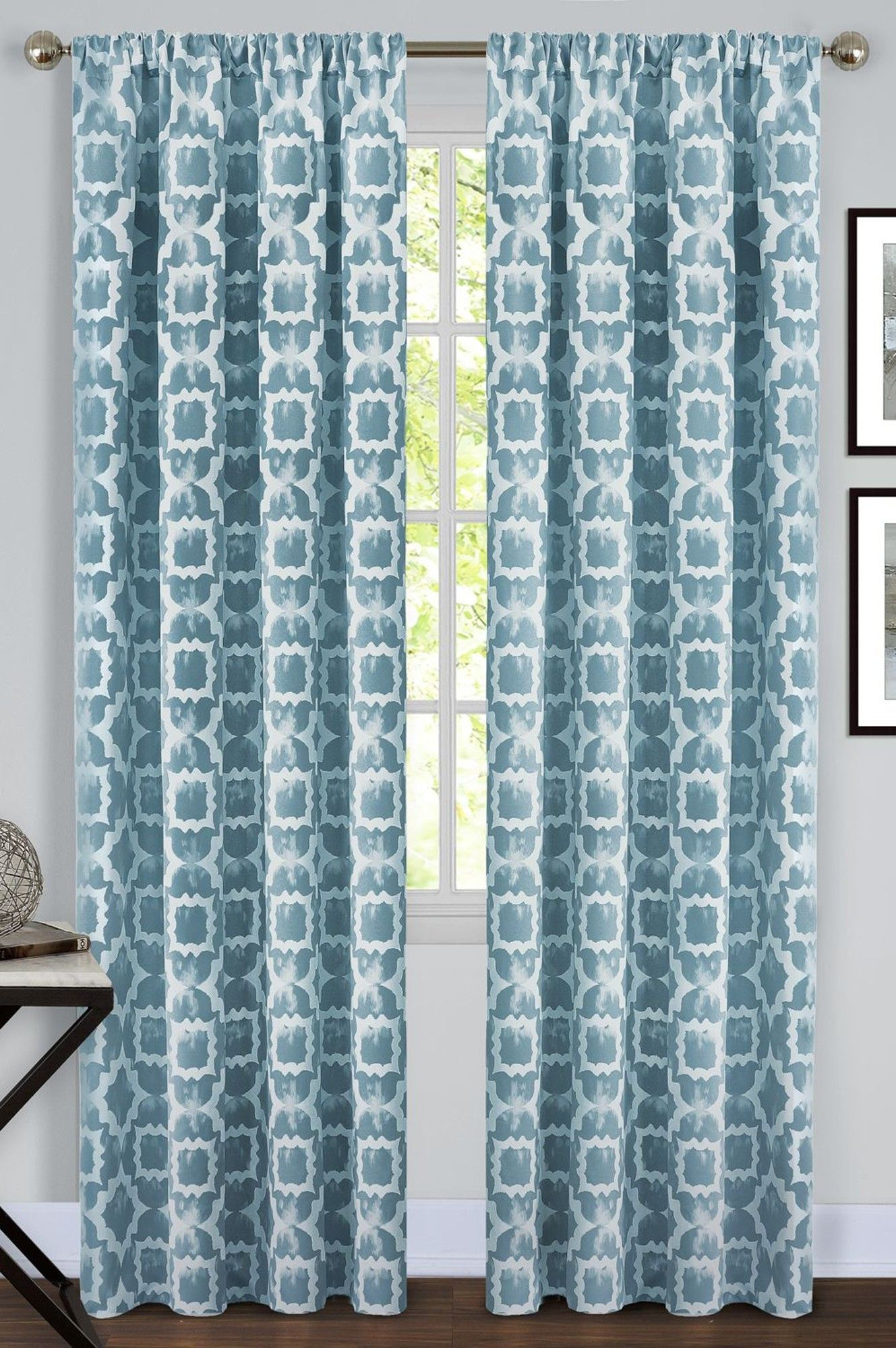 Tara Room Darkening Rod Pocket Curtain Panel