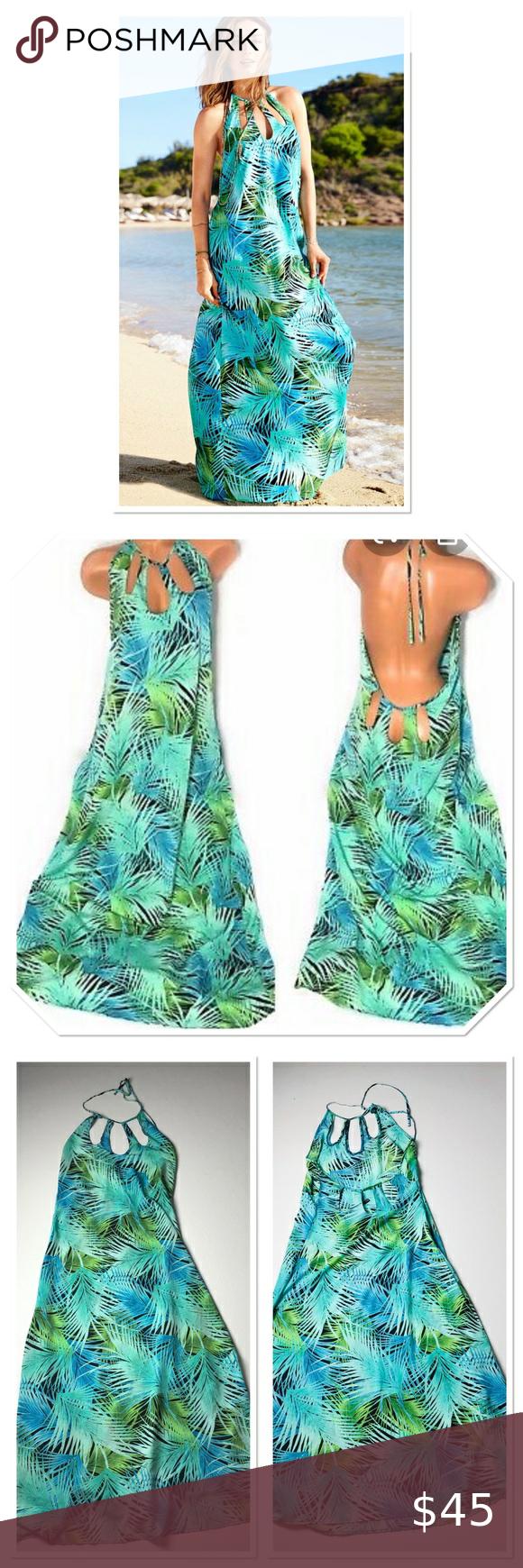 Victoria Secret Swim Cover Up Maxi Dress Size M Maxi Dress Maxi Dress Coverup Victoria Secret [ 1740 x 580 Pixel ]