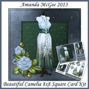 Beautiful Camelia 8x8 Square Card Mini Kit