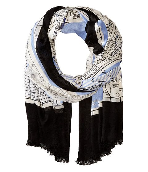 Kate Spade New York New York Map Scarf (With Images