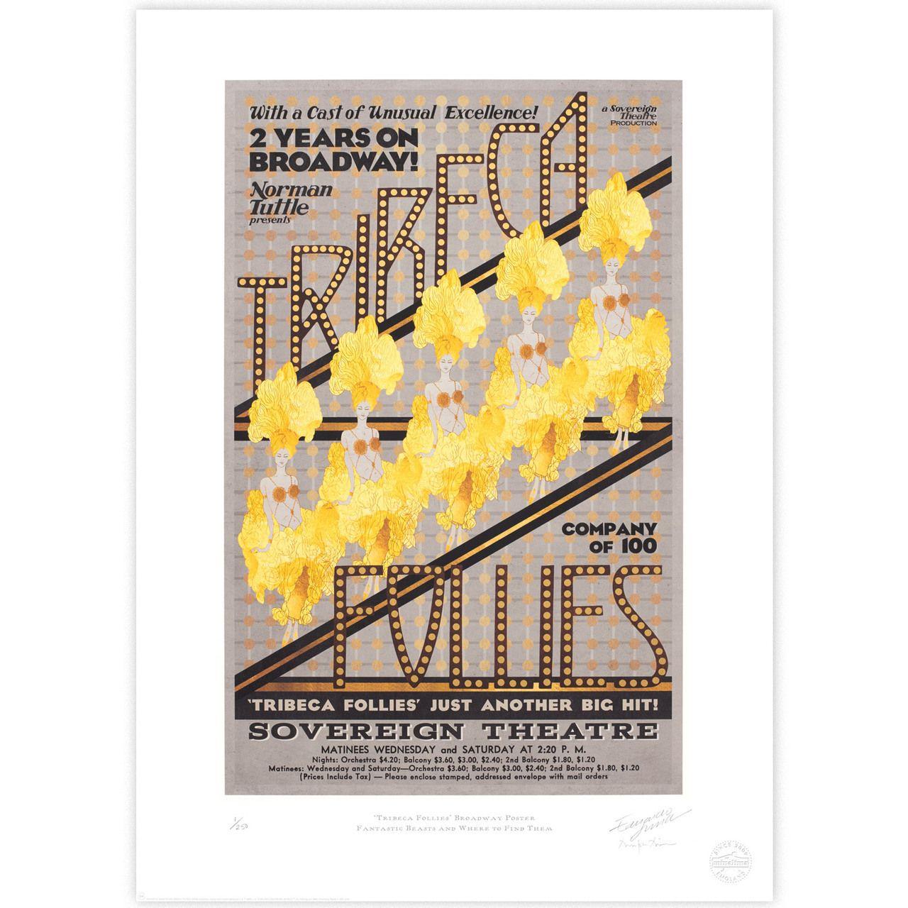 'Tribeca Follies' Broadway Poster - MinaLima Store
