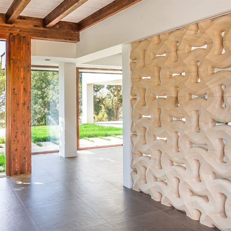 3d wandgestaltung mit stein - innenarchitektur eines landhauses, Innenarchitektur ideen