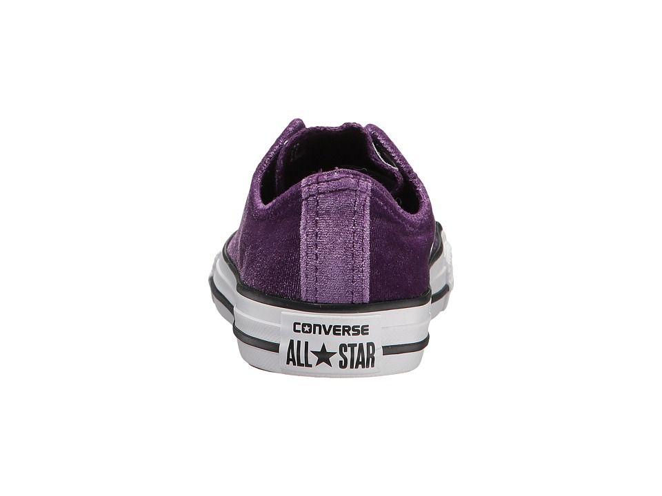 979135238d72 Converse Kids Chuck Taylor All Star Velvet - Ox (Little Kid Big Kid) Girls Shoes  Night Purple White White
