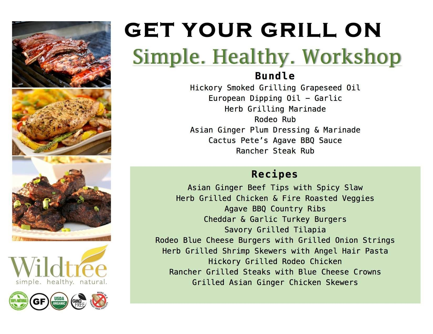 Get Your Grill On ~ Get your grill on workshop bundle list recipes