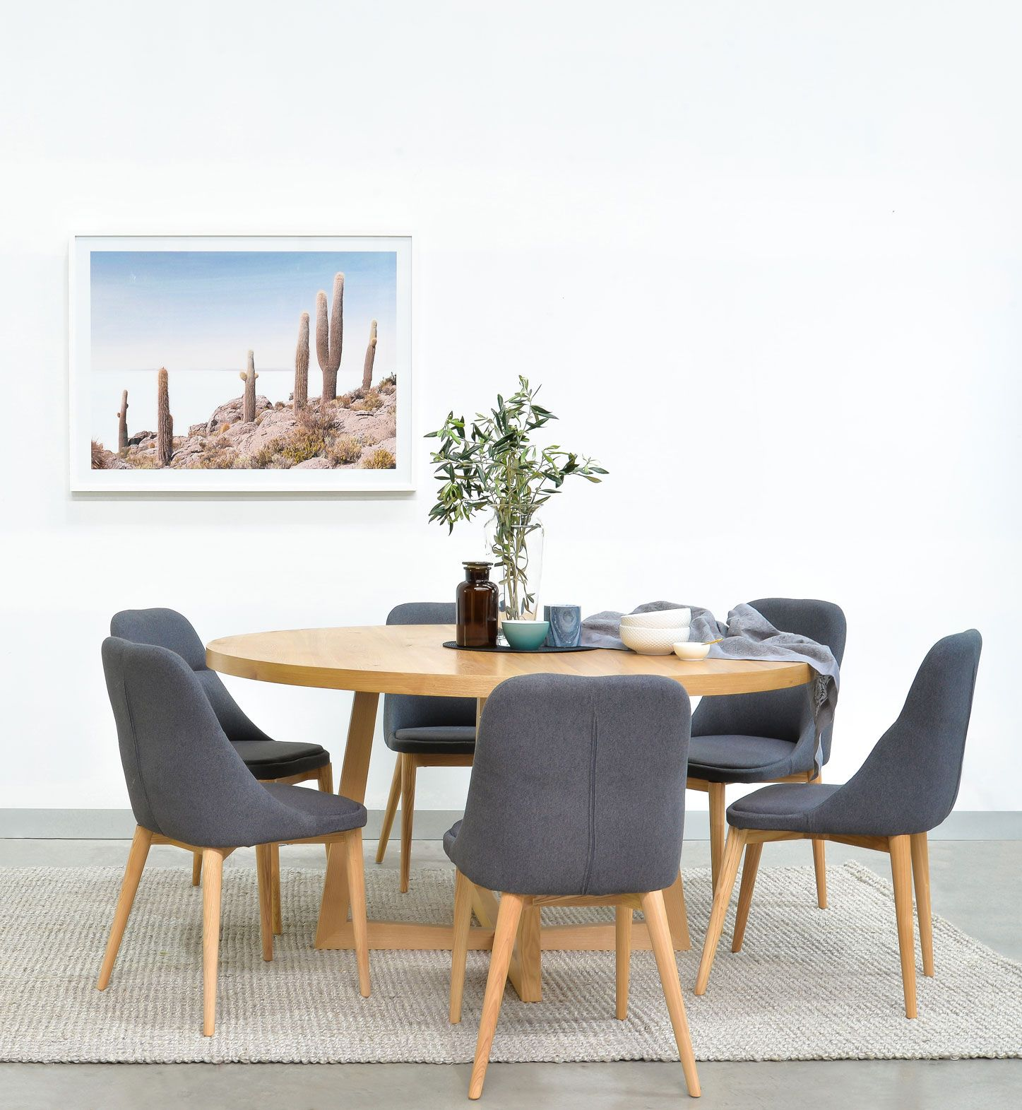 Zodiac 1 5m Round Dining Table Natural Dining Table Round