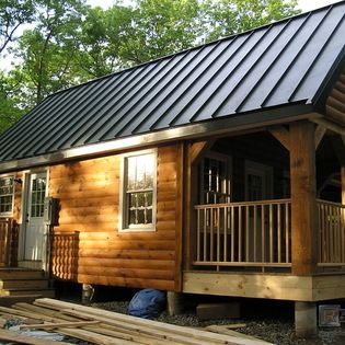 Charcoal gray metal roofing rustic Spaces Boston