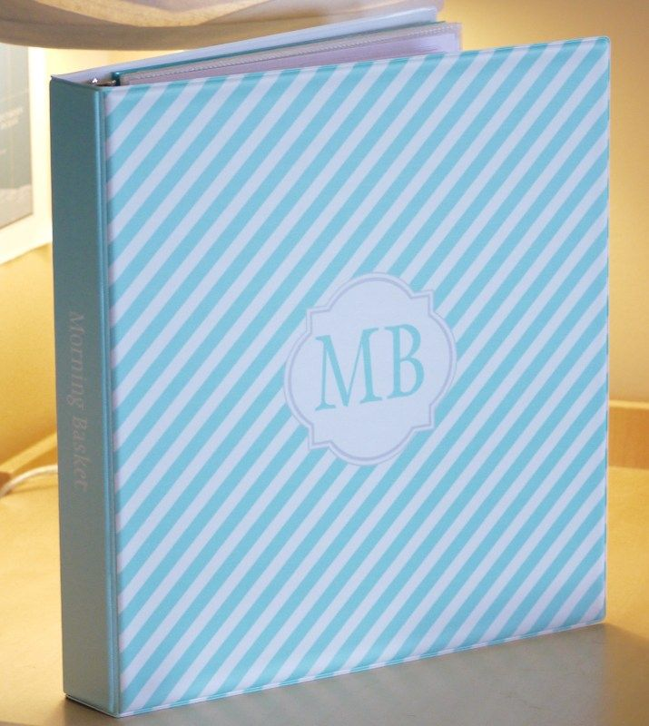 I Promised A Look Through My New Morning Basket Binder