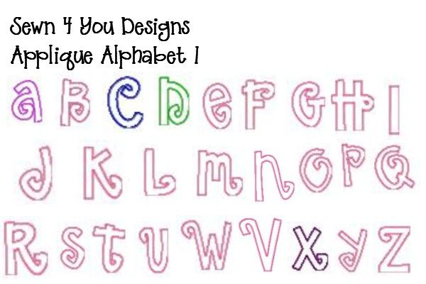 Letter Patterns | Alphabet Letters To Applique | How to