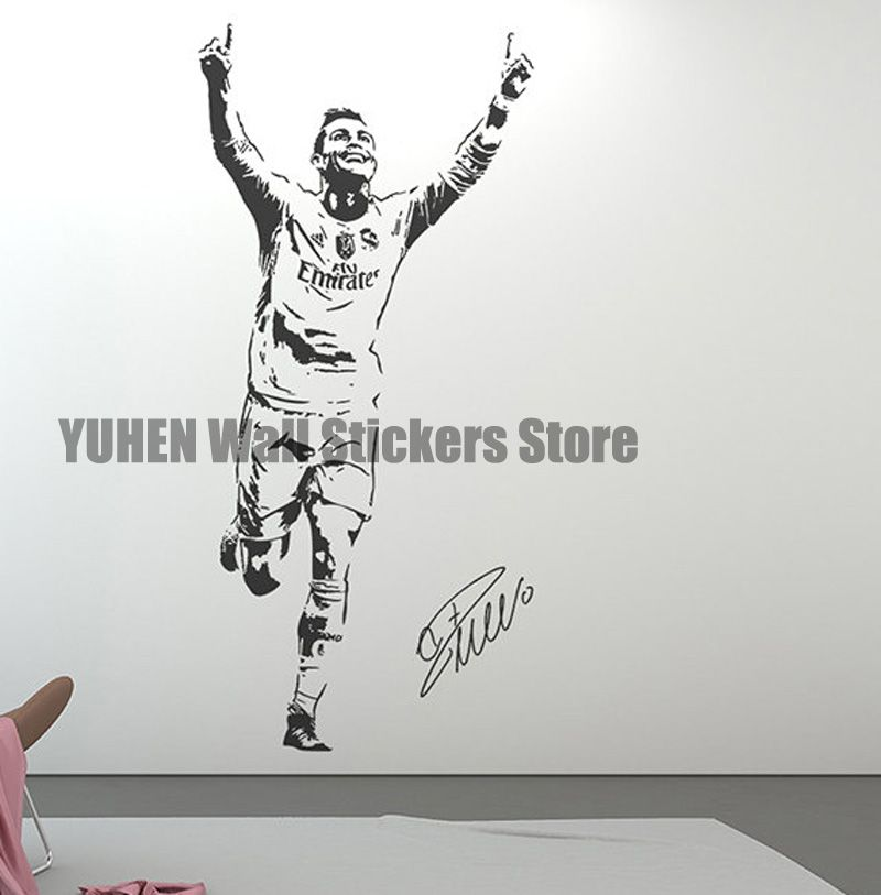 Best Football Star Ronaldo Figure Wall Decals Sports Stickers 400 x 300