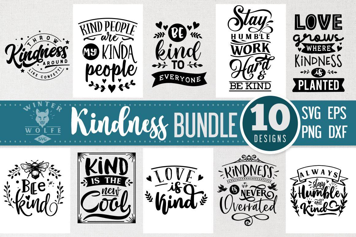 Kindness Bundle 10 Files Vol 1 (Graphic) by WinterWolfeSVG