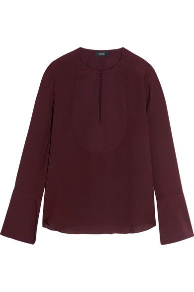 THEORY Bahlee silk blouse. #theory #cloth #tops