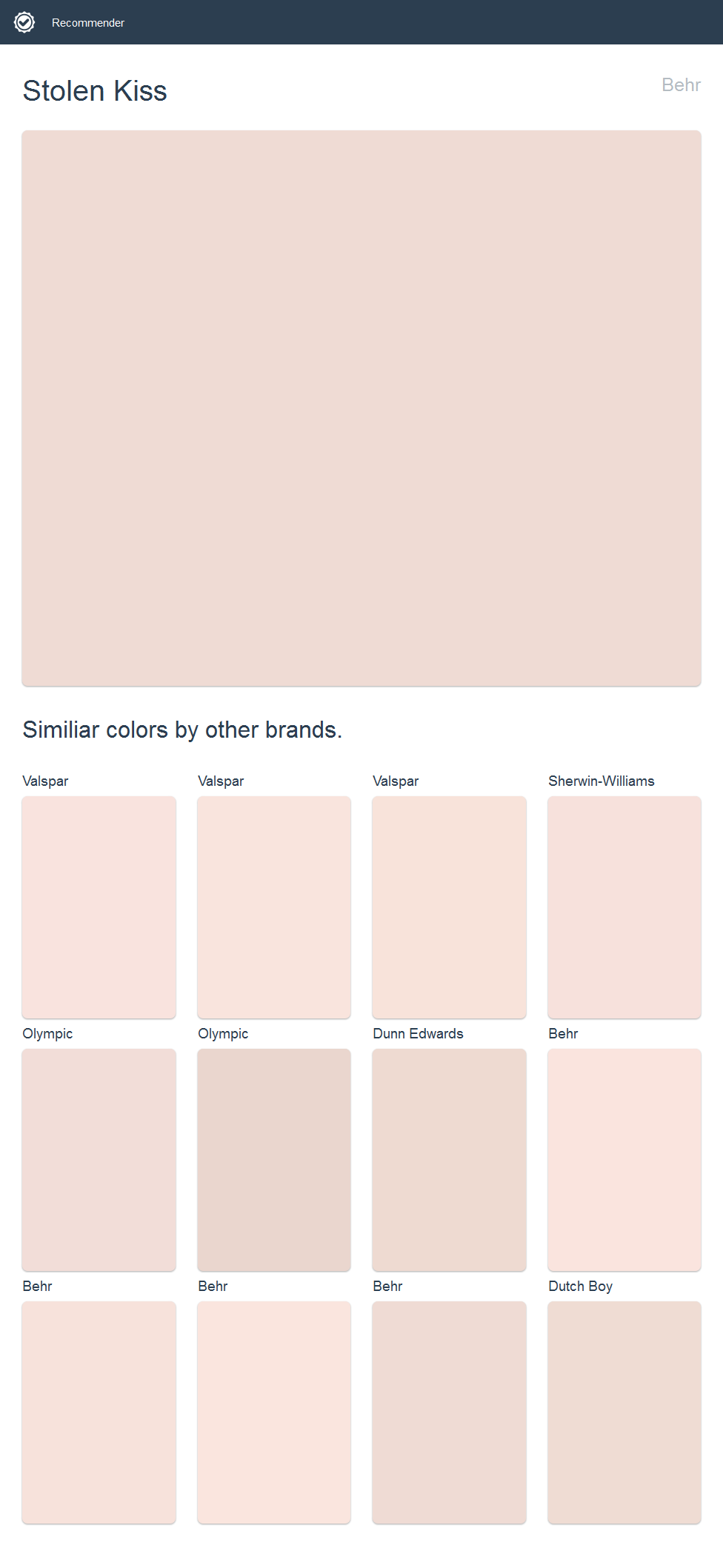 Stolen Kiss, Behr. Click The Image To See Similiar Colors By Other Brands.