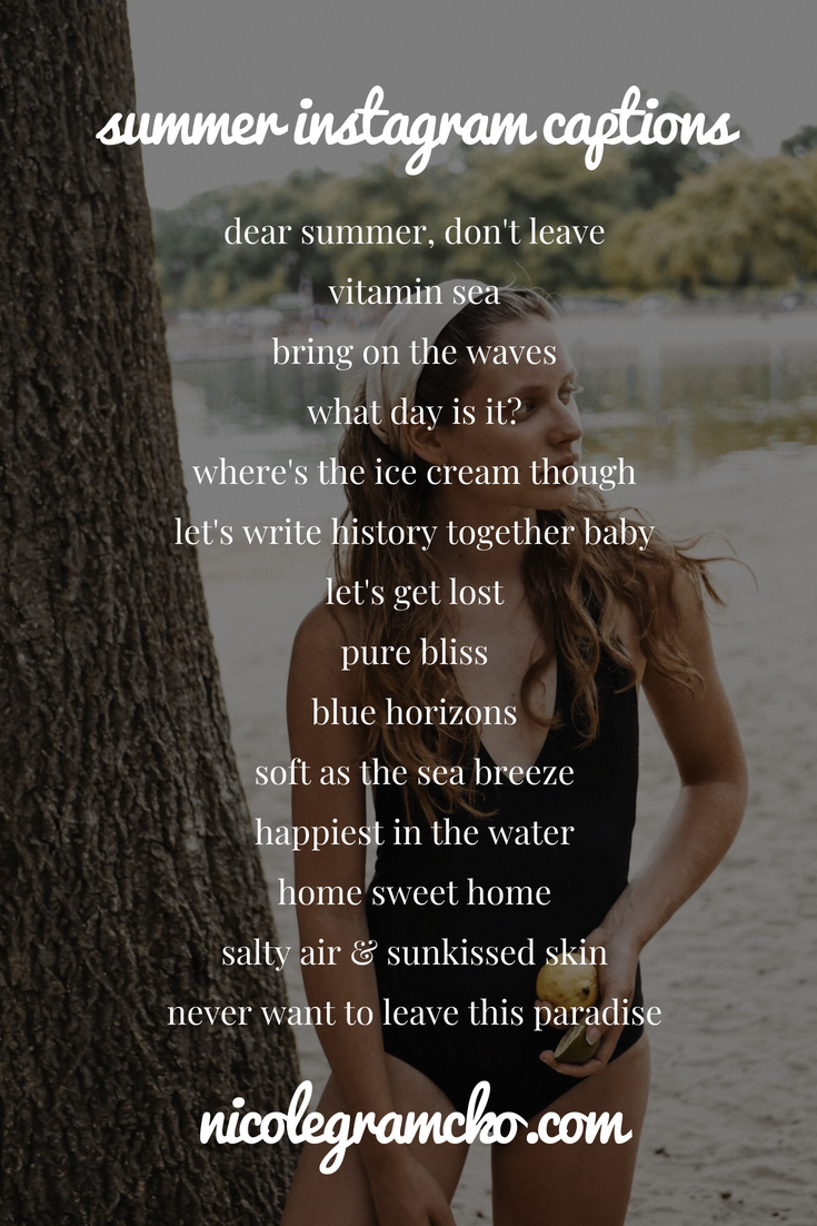 Instagram captions ideas for summer and the beach! For ...