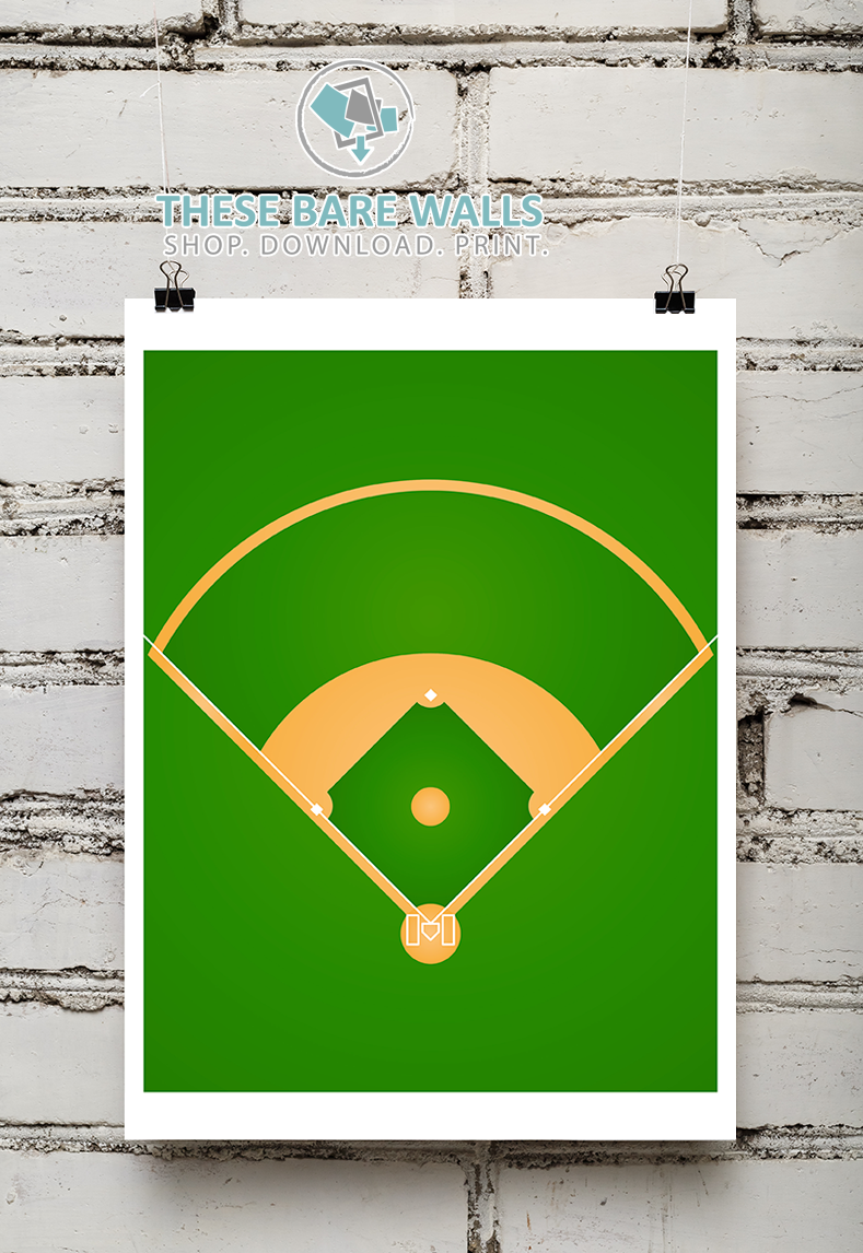 Sports Field Printable Wall Art