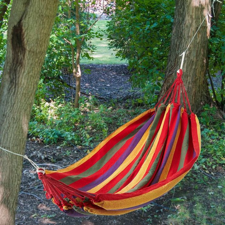 another super colorful hammock this time in the 38 lazy day backyard hammock ideas   backyard hammock  rh   pinterest