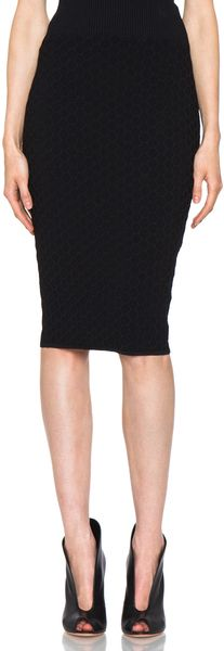 Honeycomb Pencil Skirt in Black - Lyst