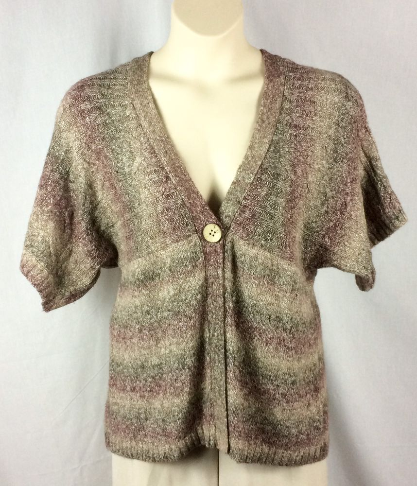 Womens Dressbarn Cardigan Sweater Size XL Single Button Short ...