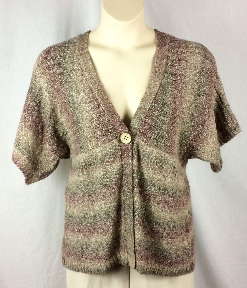 Womens Dressbarn Cardigan Sweater Size XL Single Button Short ...