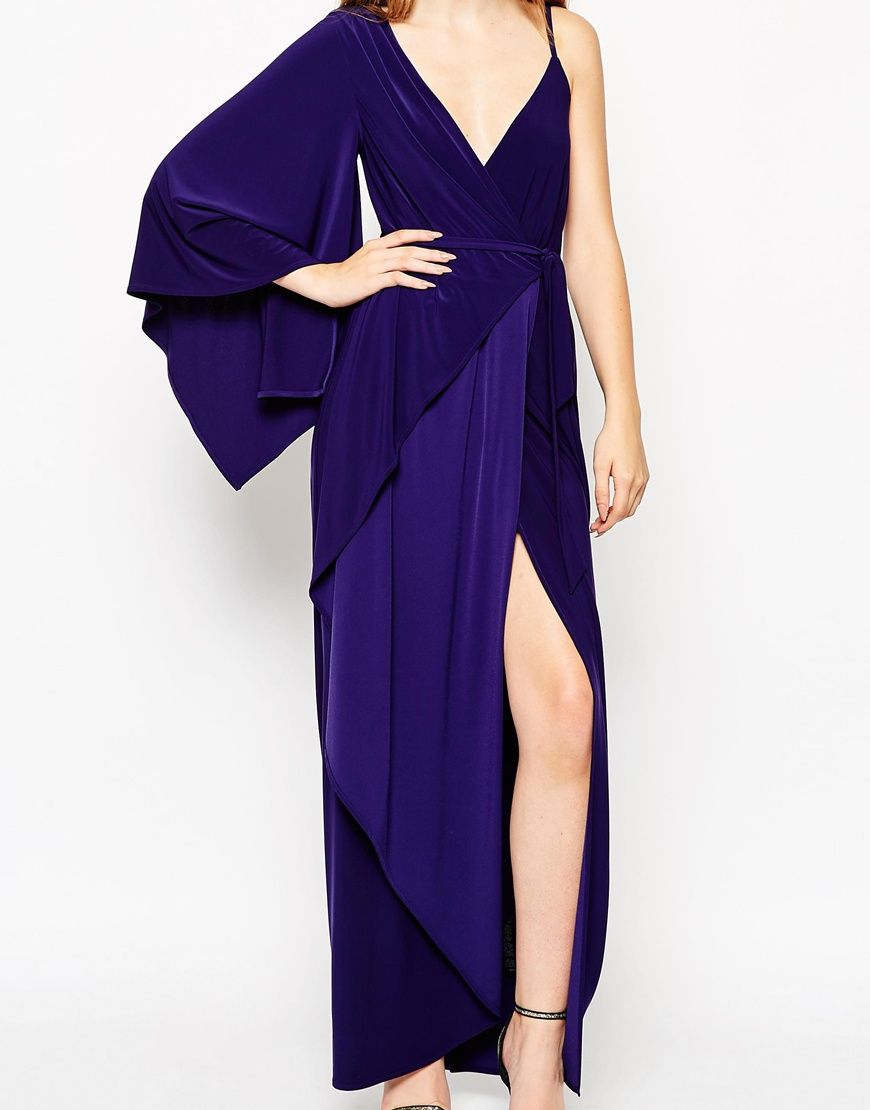 ASOS Asymmetric Drape Kimono Maxi Dress | Dresses | Pinterest | D ...