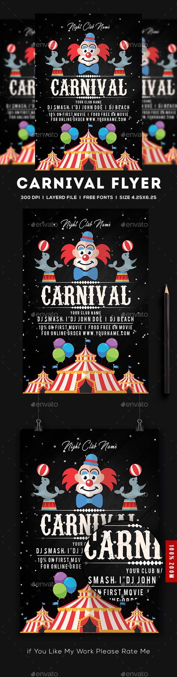 Carnival Flyer  Flyer Printing Print Templates And Graphics