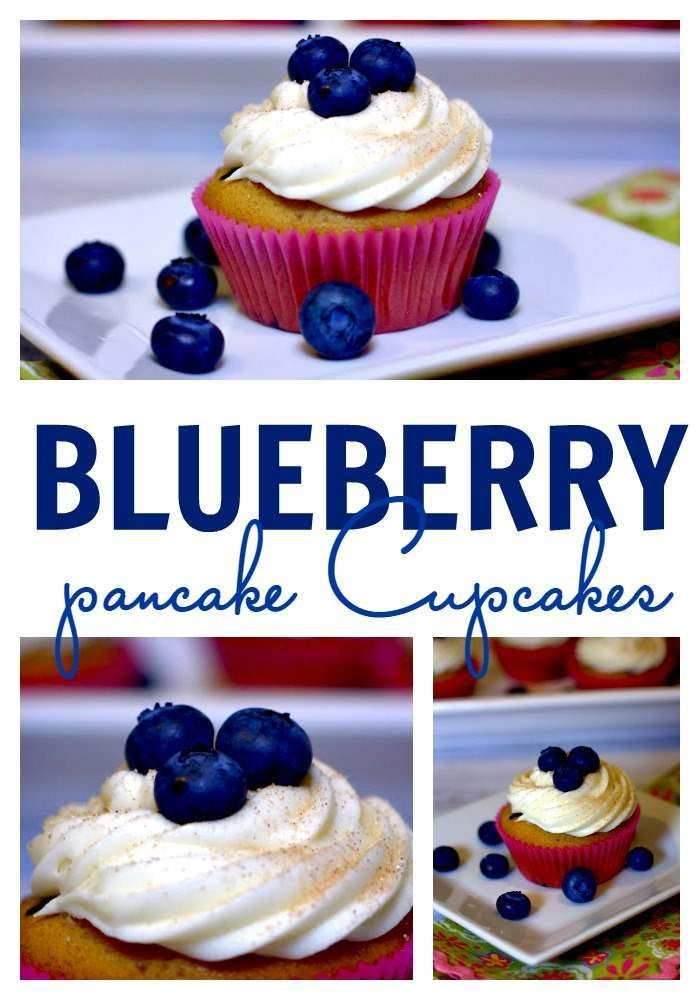 These Blueberry Pancake Cupcakes are everything you love about blueberry pancakes but in cupcake form!