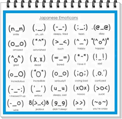 Kawaii Japanese Emoticons Mensajes De Texto Graciosos Simbolos De Letras Emojis Japoneses